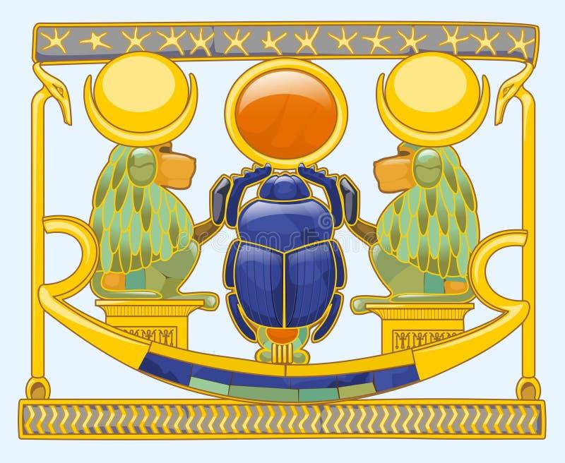 Skarabeusz z pawianami royalty ilustracja