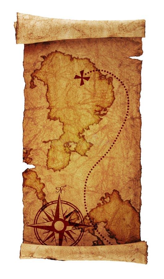 Skarb stara mapa zdjęcia stock
