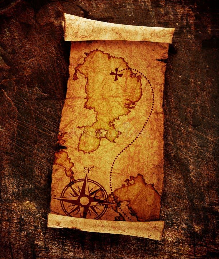 Skarb stara mapa obrazy stock