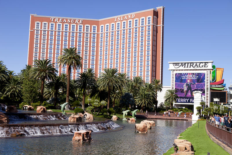 Skarb wyspy hotel Las Vegas i kasyno, Nevada obrazy royalty free