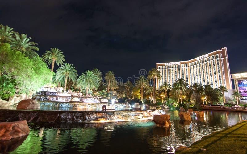 Skarb wyspy kasyno w Las Vegas Nevada i hotel obrazy stock