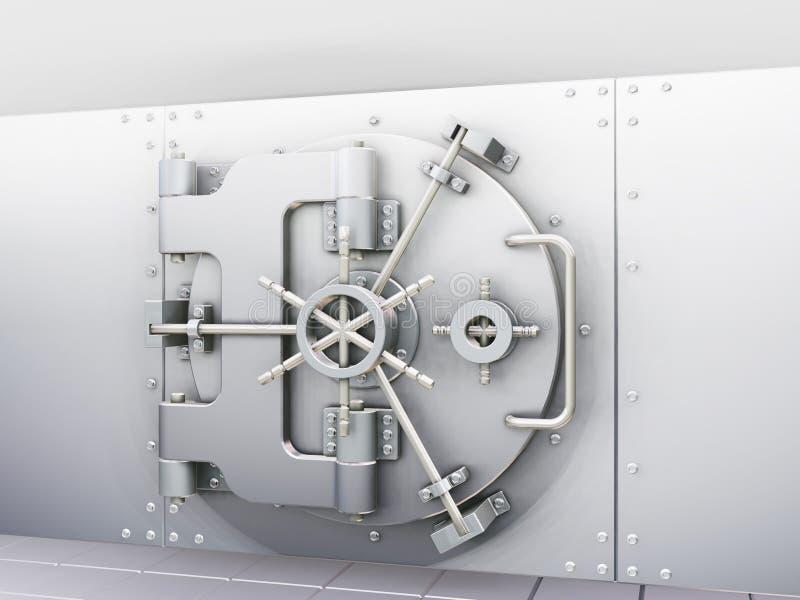 skarbiec banku royalty ilustracja