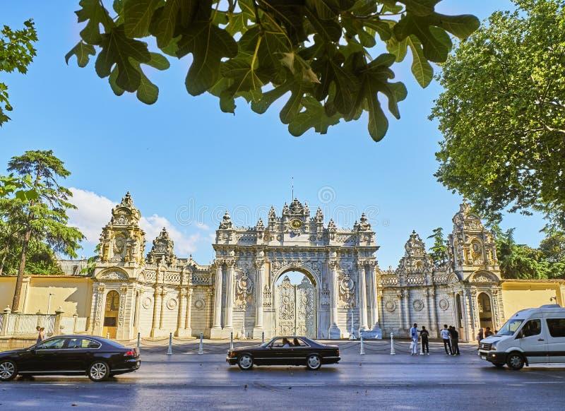 Skarbiec brama Dolmabahce pałac Besiktas okręg, Istan obrazy royalty free