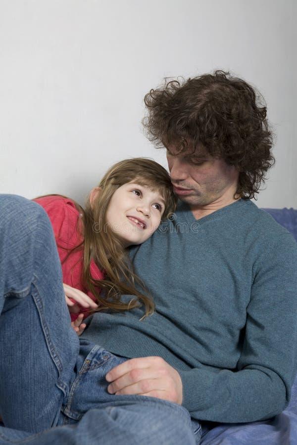 skarbikowany córka ojciec szczęśliwy zdjęcie stock