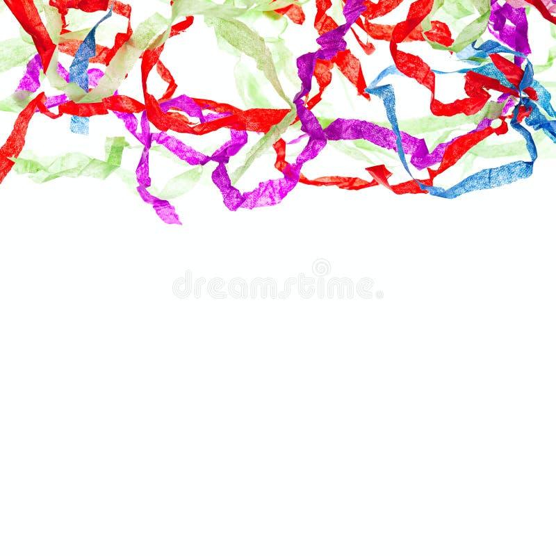 Skarbikowany faborek odizolowywający koloru abstrakta granicy tło obraz royalty free