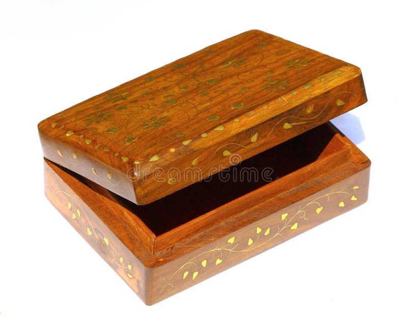 Skarbu pudełko odizolowywający zdjęcia stock
