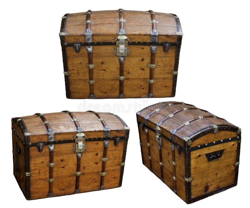 skarbu pudełkowaty drewno obrazy royalty free
