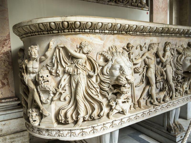 Skarby Watykańscy muzea w Rzym Włochy obrazy stock