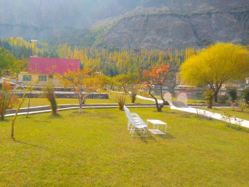 Skardu Пакистан озера Shangrila стоковое изображение