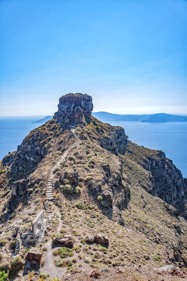 Skarosrots op Santorini royalty-vrije stock foto