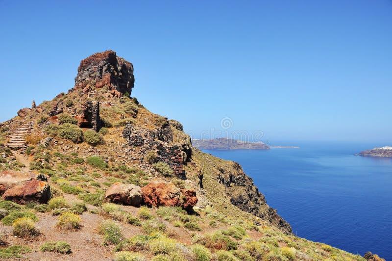 Skarosrots in Santorini royalty-vrije stock foto