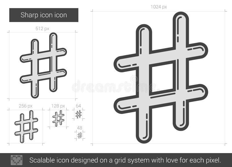 Skarp linje symbol vektor illustrationer