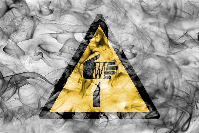 Skarpt tecken för rök för objektfaravarning Triangulär varning haza vektor illustrationer