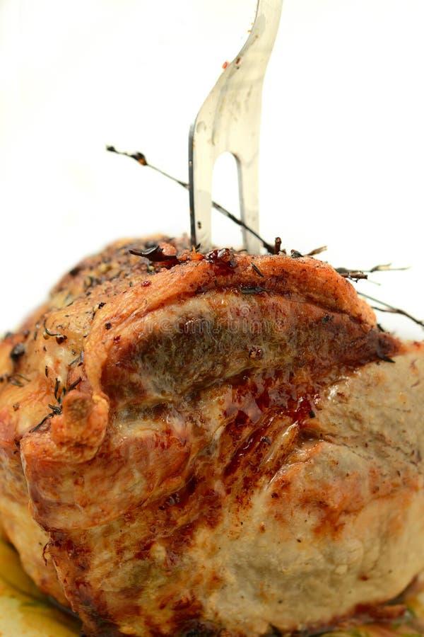 Skarv för stekgriskött arkivfoto