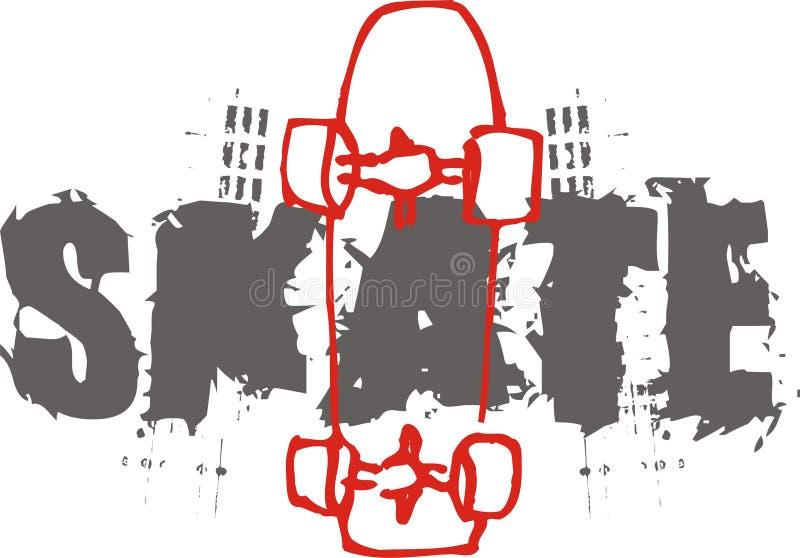 skate vector illustration