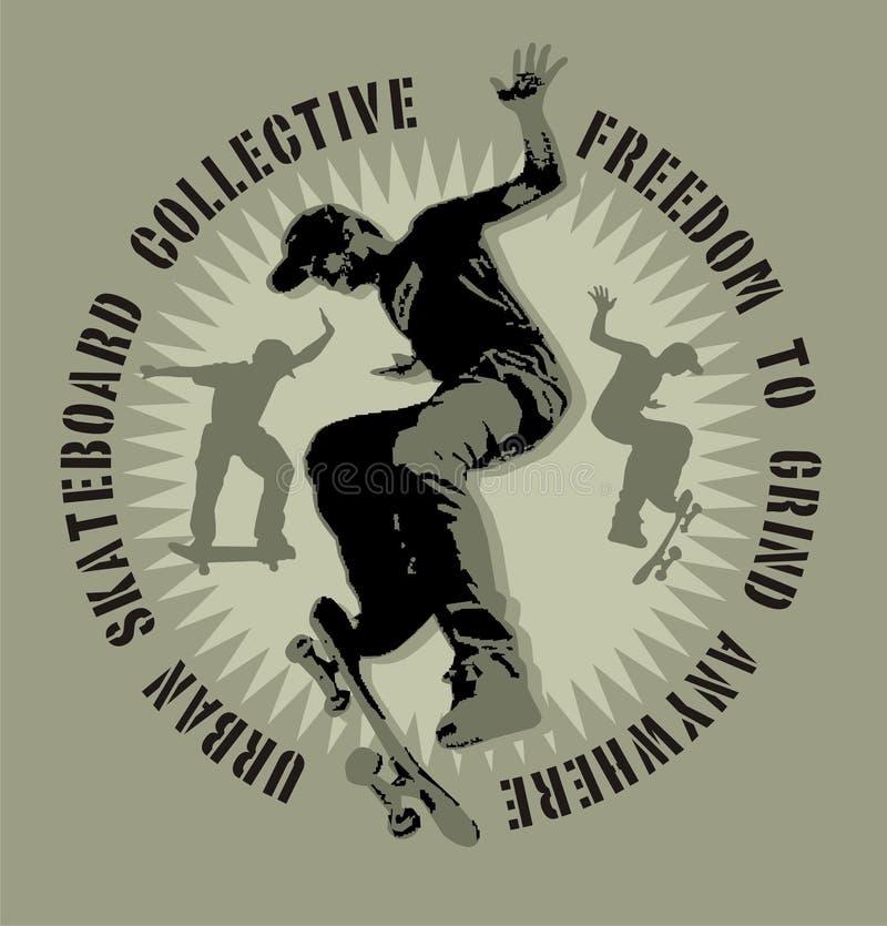 Skate ilustração royalty free
