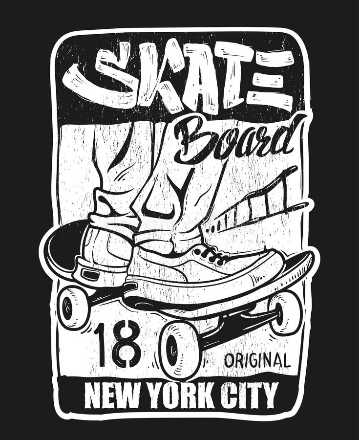 Free Skate Board Typography, T-shirt Graphics, Vectors. Stock Photos - 98352783