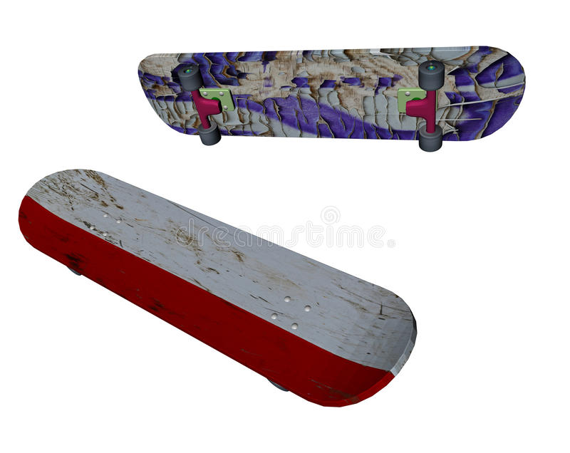 Skate boards clipart vector illustration