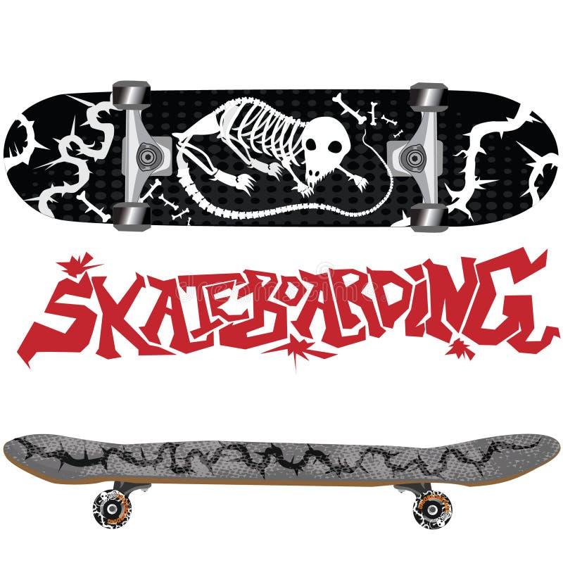 Skate com projeto fotografia de stock royalty free