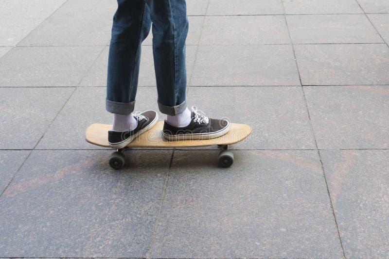 skate de madeira foto de stock royalty free