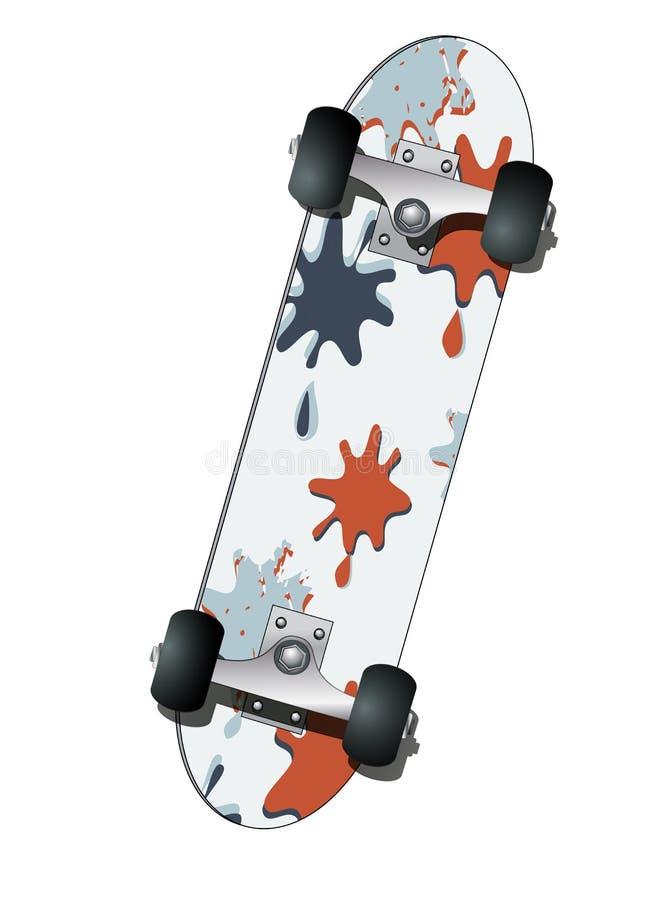 Skate, ilustração do vetor fotos de stock royalty free
