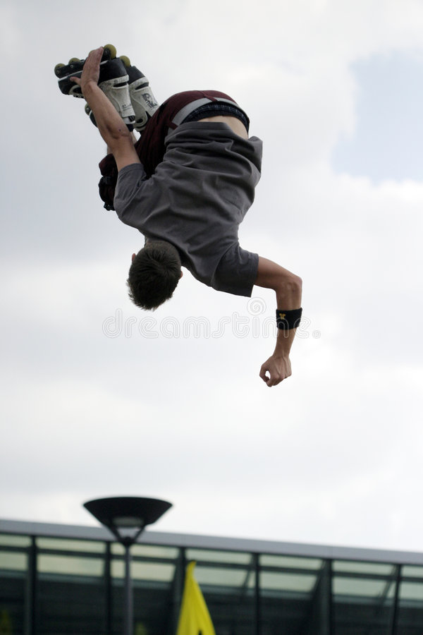 Skate jump 4. royalty free stock photography