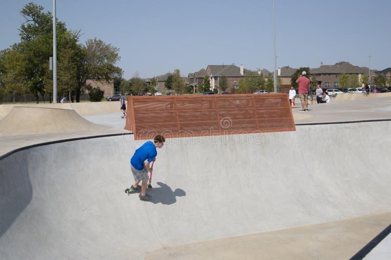 Skate Park Frisco Texas. It is Skate Park at Northeast Community Park, city Frisco Texas USA royalty free stock image
