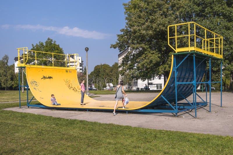 Skate park, ramp royalty free stock photography