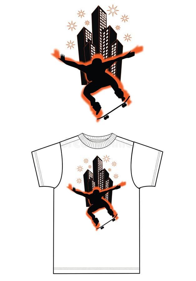 Skate print for fashion industry vector illustration