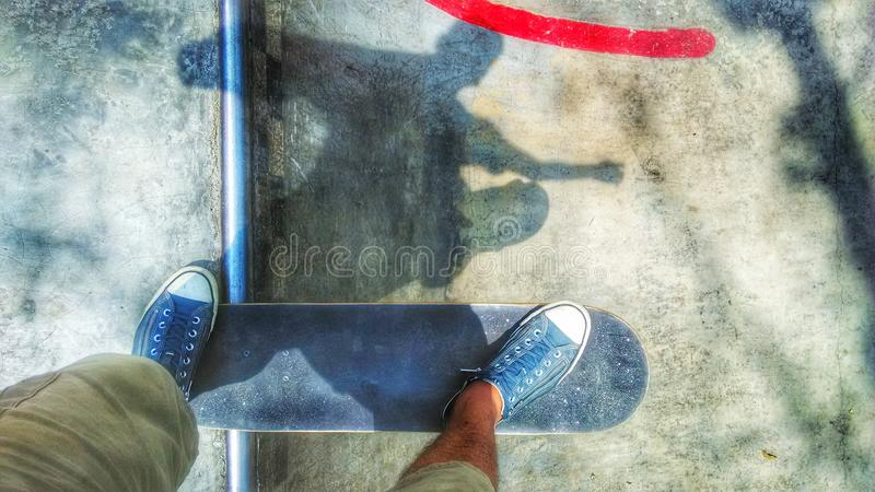 Skate Shadow stock photography