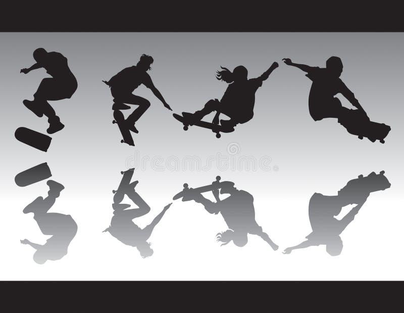 Skate Silhouettes IV vector illustration