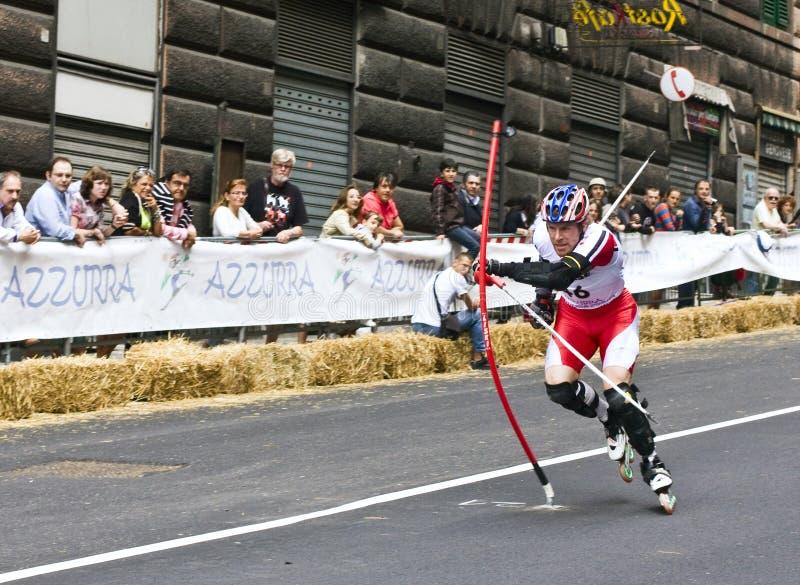 Download Skate Slalom European Cup editorial photo. Image of pending - 9599216