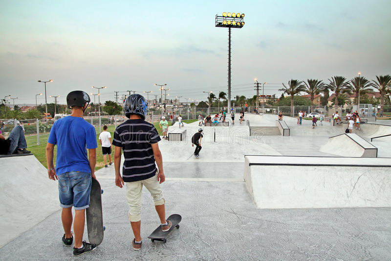 Skate Stadium in Beer Sheva, Israel stock image