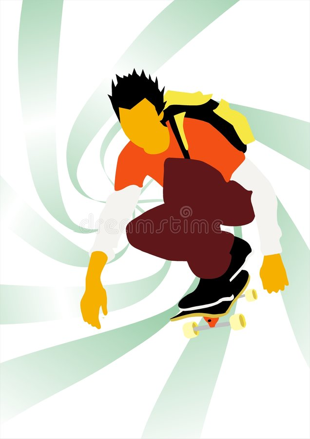 Skate work royalty free stock images