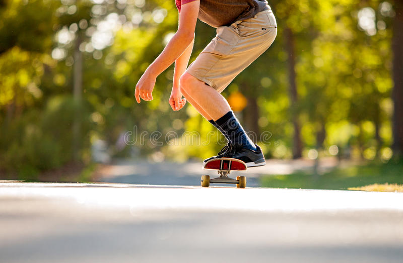 Skateboading image stock