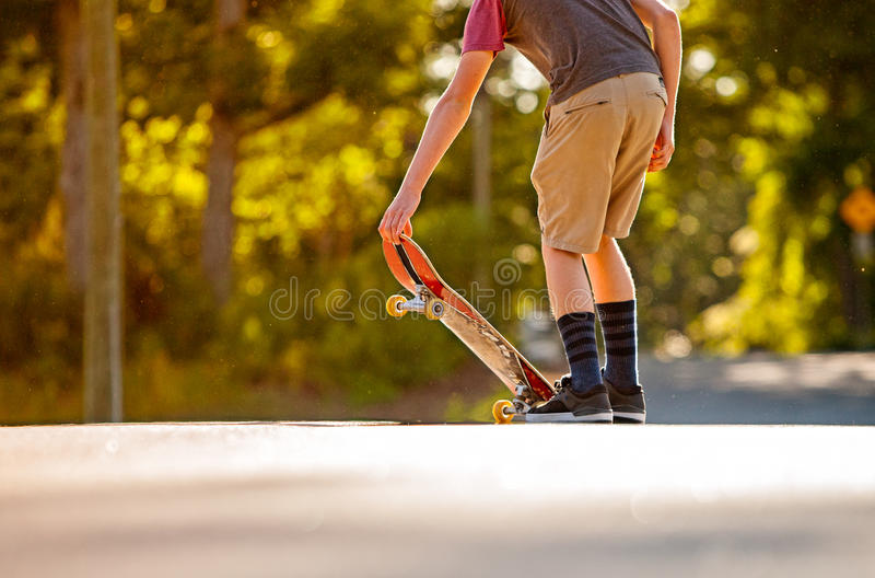 Skateboading photo libre de droits