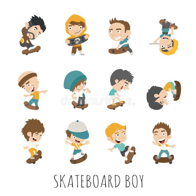 Skateboard αγόρι απεικόνιση αποθεμάτων