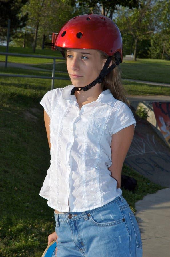 skateboard κοριτσιών στοκ φωτογραφία