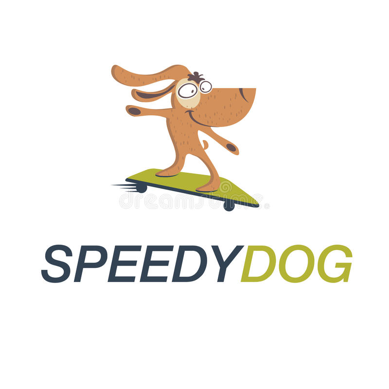 skateboard σκυλιών απεικόνιση αποθεμάτων