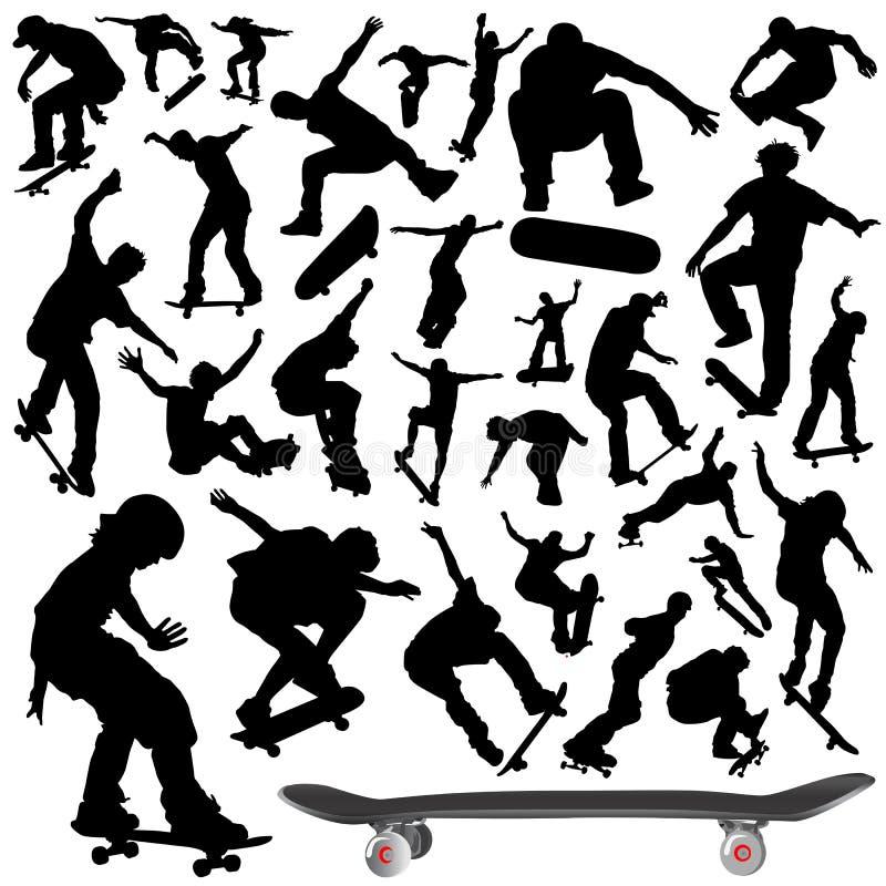 skateboard συλλογής διάνυσμα διανυσματική απεικόνιση