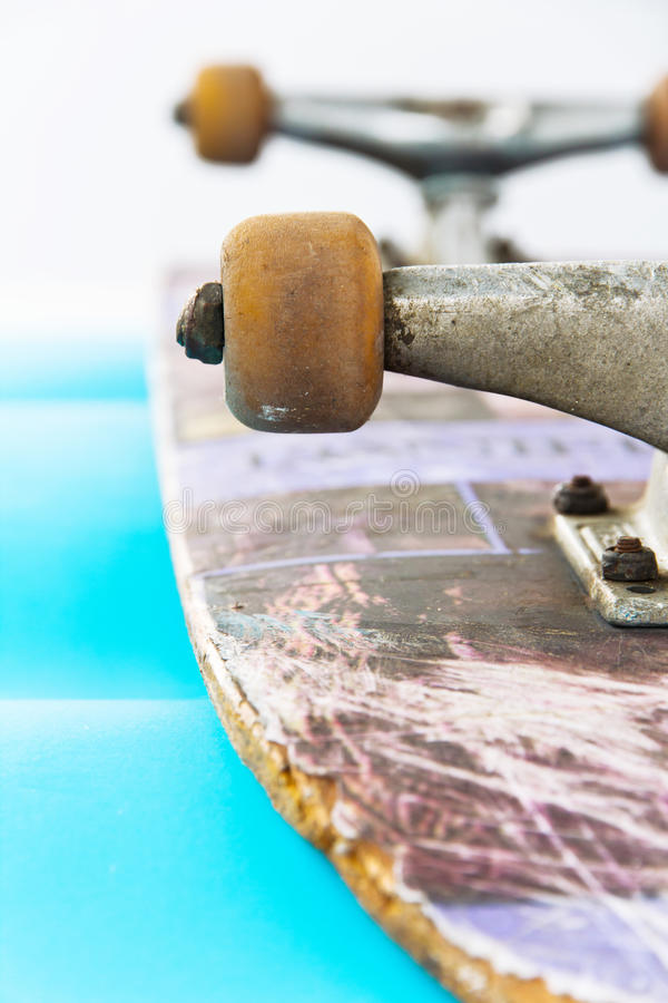 Skateboard. Close up image of Skateboard stock photography