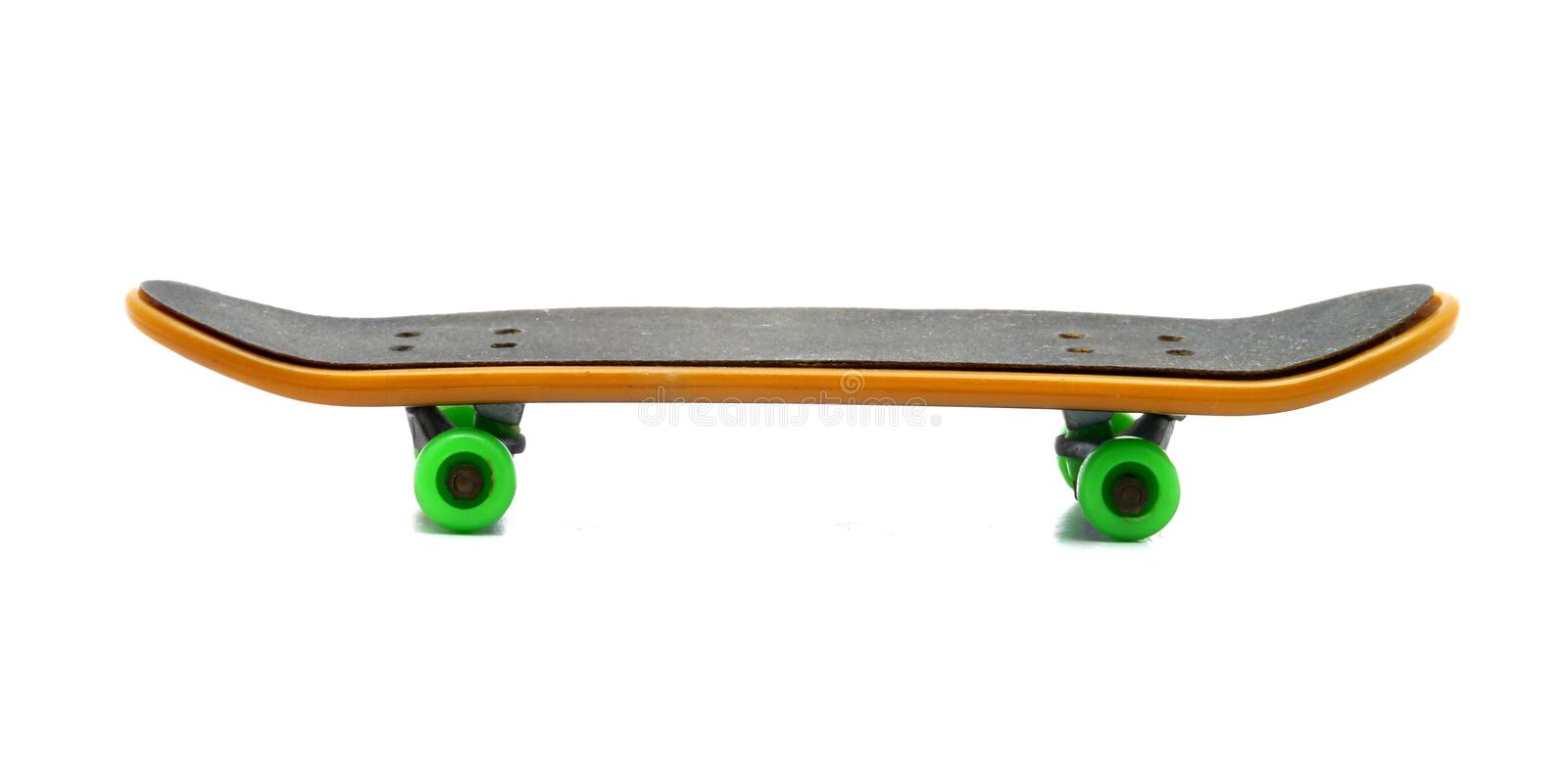 Skateboard. Clipping path isolated on white stock photo