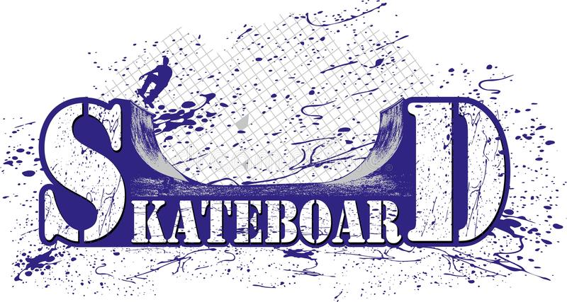 Skateboard stock illustration
