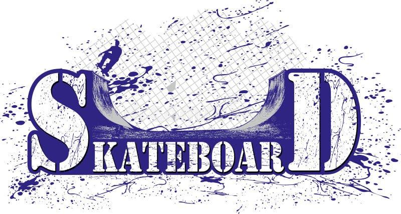 Skateboard stock illustratie