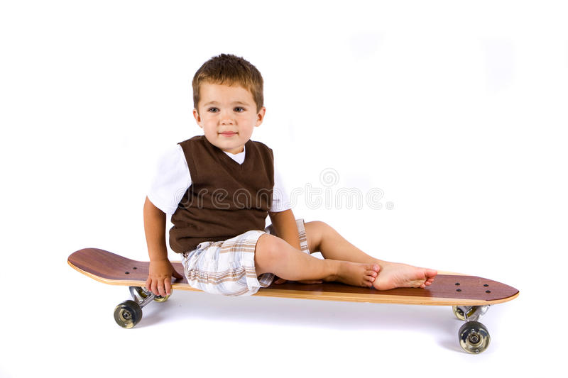 Skateboard boy stock image
