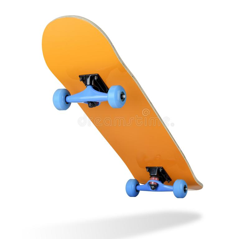 Skateboard deck on white background, isolated path included royalty free stock images