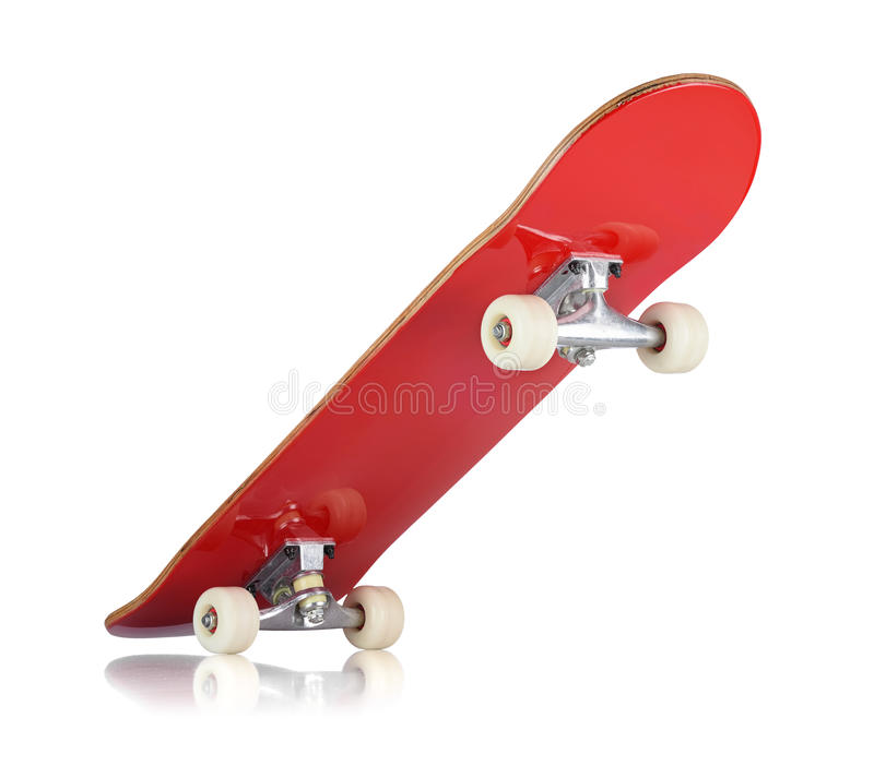 Skateboard deck on white background. Isolated path included royalty free stock images