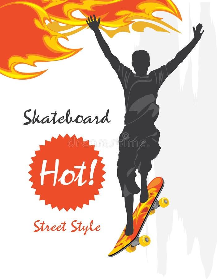 skateboard Estilo da rua ilustração royalty free