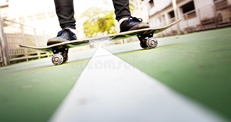 Skateboard Extreme Sport Skater Park Recreational Activity Concept stock image
