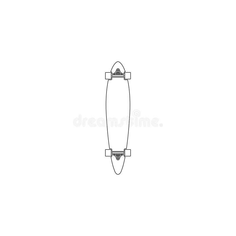 skateboard Flache Vektorikone lizenzfreie abbildung